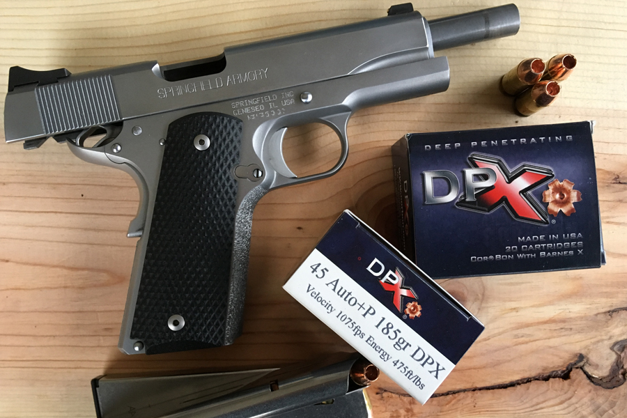 Springfield M1911-CorBonDPX Self-Defense Ammunition